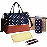 Newtion Multifunction Large Capacity Baby Diaper Nappy Changing Bag Travel Wave Point Mummy Tote Handbag Shoulder Bags