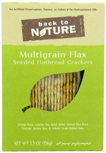 (Back To Nature Multigrain Flax Seeded Flatbread Crackers, 5.5-Ounce Boxes (Pack of 6) by Back to Nature)