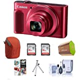 Canon PowerShot SX620 HS Digital Camera, Red - Bundle Camera Case, 2x 16GB SDHC Card, Spare Battery, Table Top Tripod, Cleaning Kit, Software Package