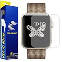 Apple Watch 42mm Anti-Glare Screen Protector (Series 2) [Full Coverage] [2 Pack] ArmorSuit MilitaryShield w/ Lifetime Replacements - Anti-Bubble Shield Matte for Apple Watch 2 42mm