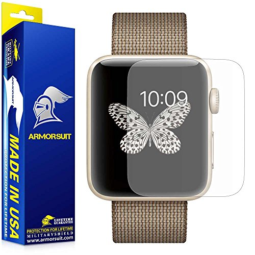 Apple Watch 42mm (Series 2/3 Compatible) Screen Protector [2 Pack], ArmorSuit MilitaryShield Anti-Glare Matte Screen Protector for Apple Watch 42mm (Series 2/3 Compatible) - Anti Bubble Film