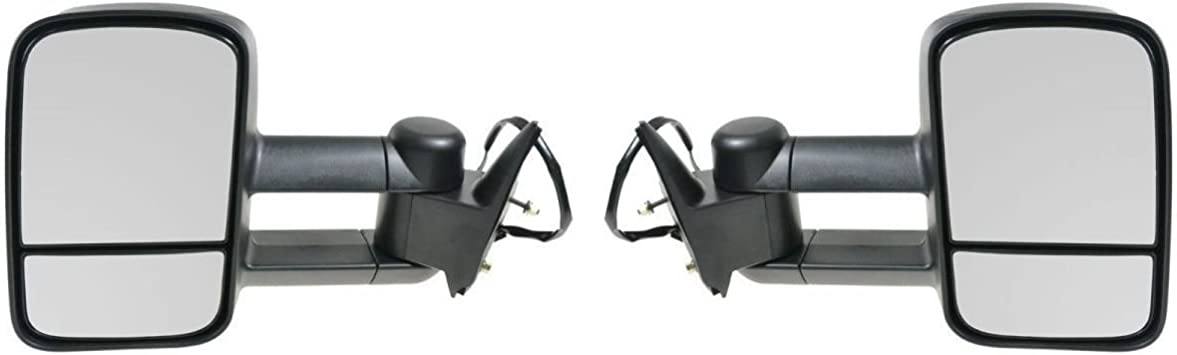 Towing Power Side View Mirrors Left /& Right Pair Set for 88-98 Chevy GMC Truck