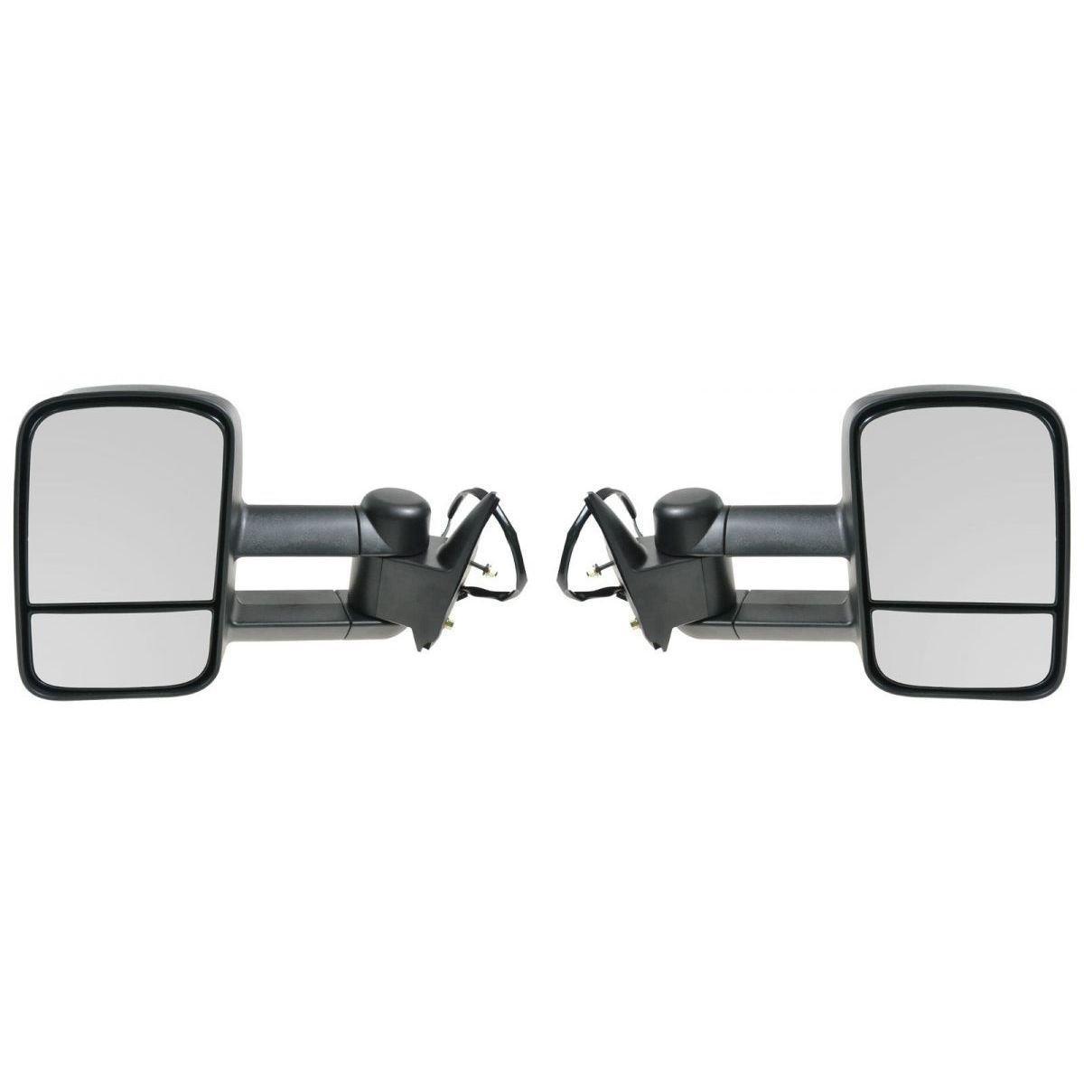 APA Chevrolet Gmc C K 1500 2500 3500 Truck 88 - 98 Tow Power Mirror Left Right Set by Auto Parts Avenue