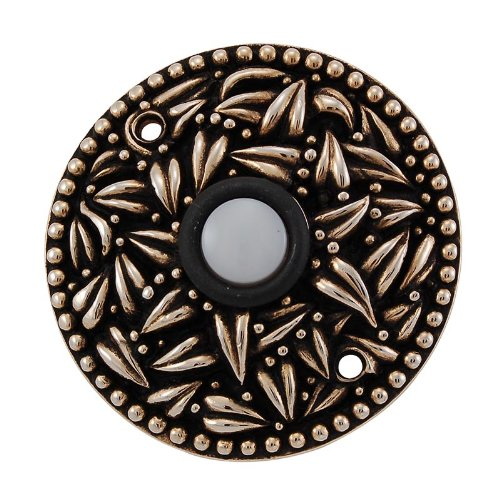 (Vicenza Designs D4013 San Michele Round Doorbell, Antique Gold)
