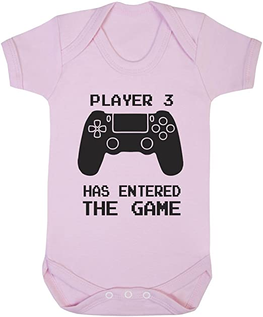 Player 3 has entered the Game Print 3-6 Months Baby Grow BodySuits Gift