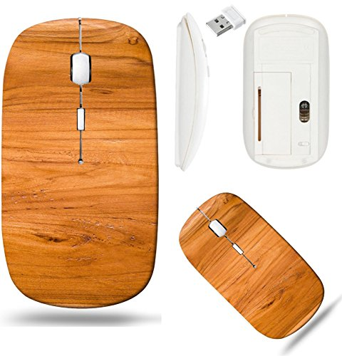 Liili Wireless Mouse White Base Travel 2.4G Wireless Mice with USB Receiver, Click with 1000 DPI for notebook, pc, laptop, computer, mac book IMAGE ID: 17080960 color pattern of teak wood decorative s
