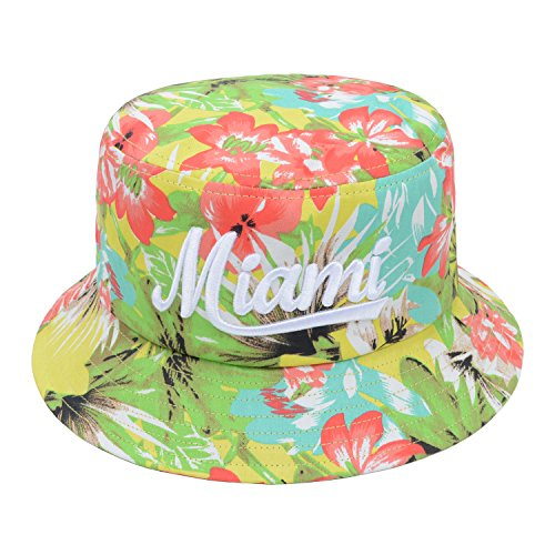 bff5923451a Hatphile City Trendy Bucket Hat Large Tropical Miami Multicolored - Buy  Online in Kuwait.