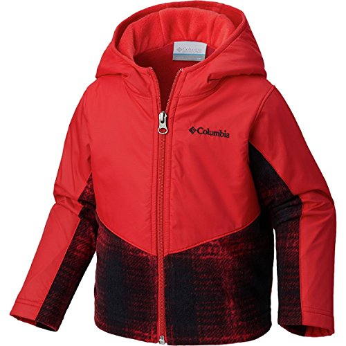 Price comparison product image Columbia Kids & Baby Toddler Steens Mt Overlay Hoodie, Red Spark Twill Plaid, 2T