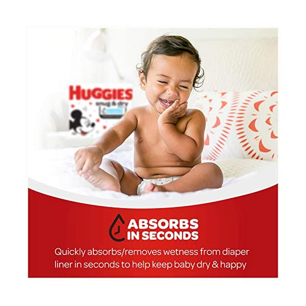 Huggies Snug & Dry Baby Diapers One Month Supply White Size 1 (256 Count) 4