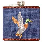 Smathers & Branson Mallard Needlepoint Flask - Classic Navy (Flask-11)