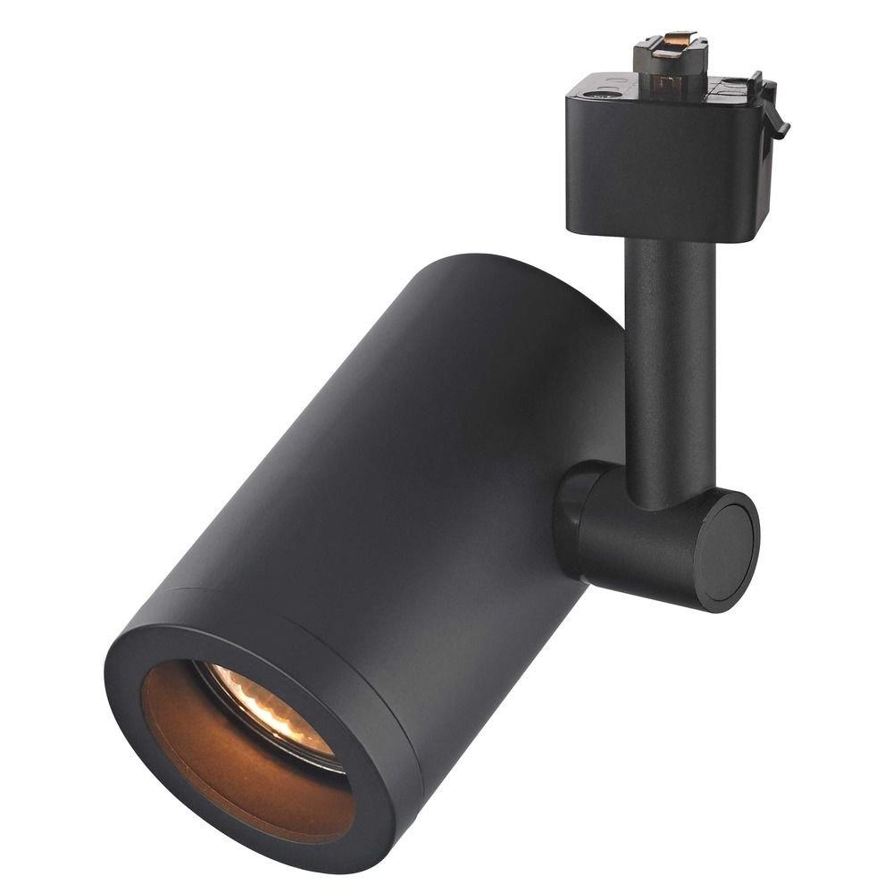 Black GU10 Cylinder Track Head for Juno Track System