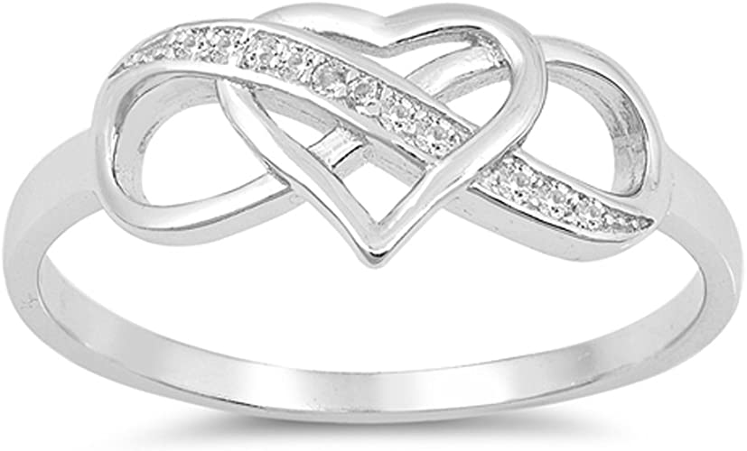 Custom Engravable Infinity Sailor Tied Love Infinity Knot Promise Ring Sterling Silver; Continuum; Solid  10k 14k White Rose or Yellow Gold