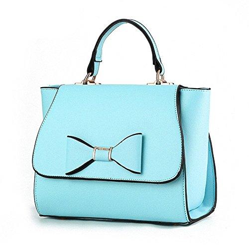 Hombro lazo Fashion PU Bolsa Cuerpo mano Cruz De de qckj bolso Mujeres Azul 6cwSTqX86x