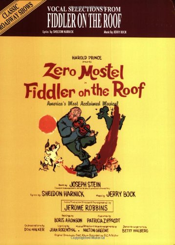 Vocal Selections From Fiddler on the Roof (piano/vocal/chords)