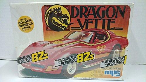 (MPC 1-3718 Dragon Vette 1982 Corvette 1:25 Scale Plastic Model Kit - Requires)