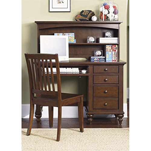 Liberty Furniture 277-BR70B Abbott Ridge Student Desk Base, 45'' x 18'' x 31'', Cinnamon