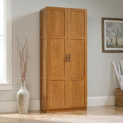 Sauder Storage Cabinet, Highland Oak Finish