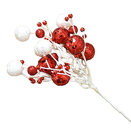 ( Pack of 6 ) Glittery Deluxe Artificial Berry Picks for ...