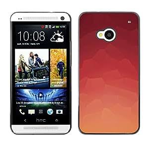 A-type Arte & diseño plástico duro Fundas Cover Cubre Hard Case Cover para HTC One M7 (Modelo rosado abstracto)