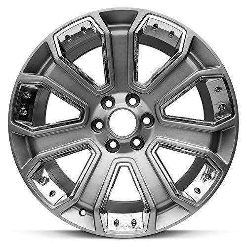 Road Ready Car Wheel For 2015-2018 Cadillac Escalade GMC Sierra GMC Yukon Chevy Suburban Chevy Tahoe 22 Inch 6 Lug Chrome Rim Fits R22 Tire - Exact OEM Replacement - Full-Size Spare