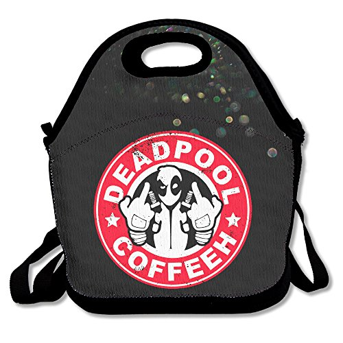 [Bekey Deadpool Coffee Lunch Tote Bag Lunch Box For Women Adults Kids Girls For Travel School Picnic Grocery] (Captain Murphy Costume)