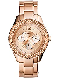Women's Quartz Stainless Steel Dress Watch, Color:Rose...