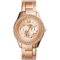 Fossil Women's Quartz Stainless Steel Dress Watch, Color:Rose Gold-Toned (Model: ES3590)