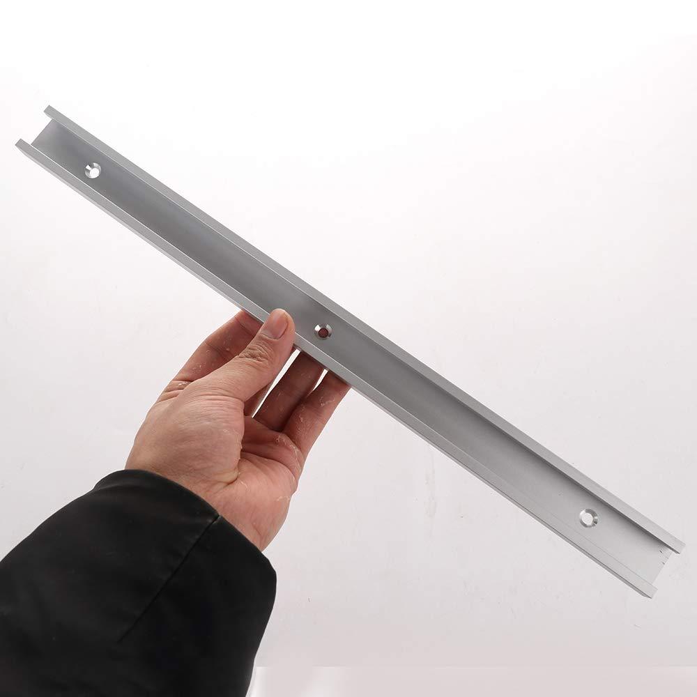 0,3 m troncatrice per falegnameria con scanalatura a T Ironhorse Silver Lega di Alluminio per Macchine Professionali da banco da Lavoro da 300-800 mm