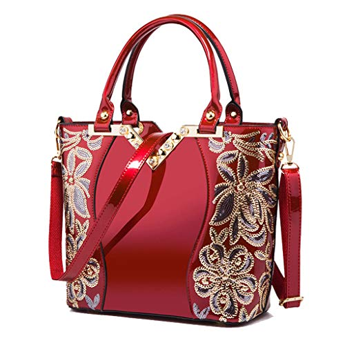 femme main bandoulière Lxf20 Bag Sac Sac Sac PU main à Lady à Red pour Aristocratique à rqqx8w