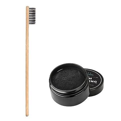 Polvo Para Blanquear Los Dientes, Activado Orgánico Charcoal Teeth Whitening Powder Para La Limpieza Sana