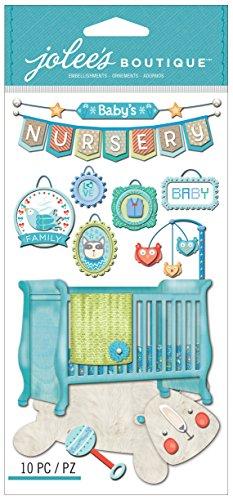 Jolee's Boutique Dimensional Stickers, Baby Boy Nursery (Scrapbook Invitation)