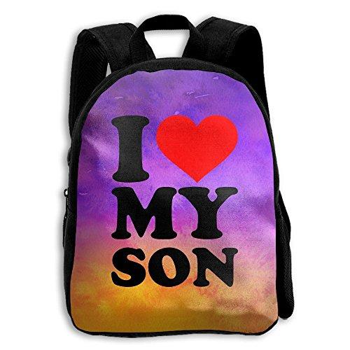 I Love My Son School Backpack Children Printed Oxford Fabric Backpack Bag (Billboard Bag Messenger)