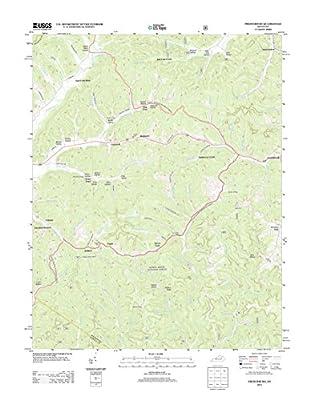 "Topographic Map Poster - FRENCHBURG, KY TNM GEOPDF 7.5X7.5 GRID 24000-SCALE TM 2012 19"" x 24"""
