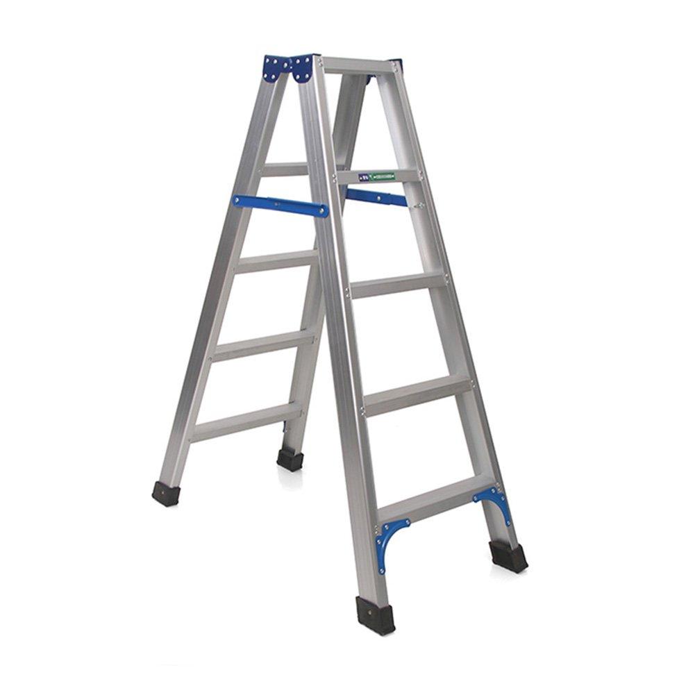 5-Step Bxfdc 3,4,5 Step Folding Step Stool Household Aluminum Scissors Ladder Anti-Skid Multi-Purpose Household, Workshop, Garage (Size   3-Step)