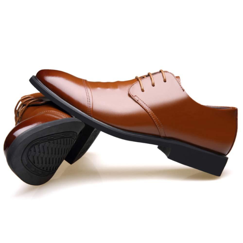Zapatos de Cuero de Punta Punta Punta de Cuero de los Hombres Derby Zapatos de Suela de Goma del tal oacute;n de Baja Altura Zapatos de Vestir Transpirables 43746d