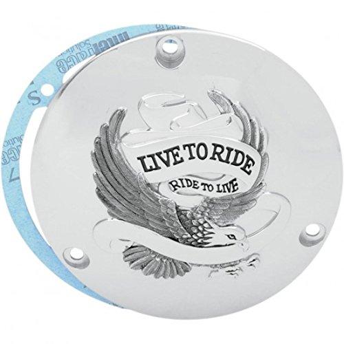 DRAG SPECIALTIES 1107-0155 70-98 B/T CHR LIVE TO RIDE DERBY CVR