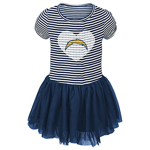 San Diego Chargers Dress: Los Angeles Chargers Baby Dress, Chargers Baby Dress