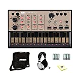 Korg Volca Keys Analog Synthesizer With Stereo Headphones, 8-Pack of Double A Batteries, Matching Case and Cleaning Cloth