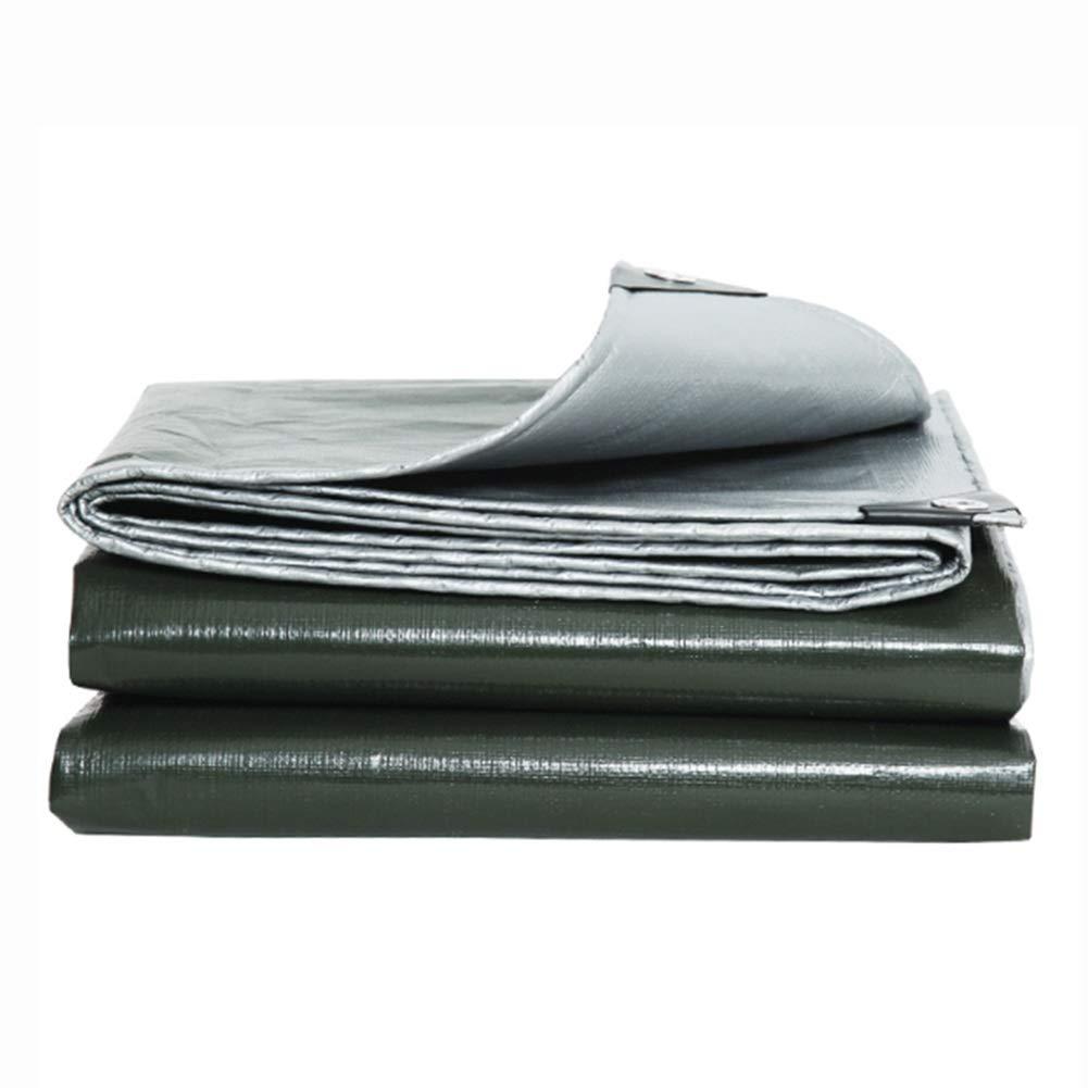 DALL ターポリン アウトドア PEタープ 両面防水 耐摩耗性 防塵 190g \㎡ 厚さ0.32mm 複数のサイズ (Color : 緑, Size : 8×10m) 緑 8×10m