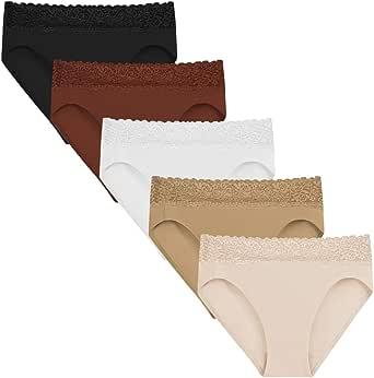 5Mayi Ropa Interior para Mujer Ropa Interior de algodón para Mujer Bragas Hi-Cut Leg Bikinis para Mujer Braguitas Pantalones de Mujer Ropa Interior: Amazon.es: Ropa y accesorios