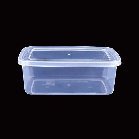 Kitchenware Caja de plástico para Alimentos Crujiente Transparente con Pulpa en la Tapa Caja de Almacenamiento Refrigerador Caja refrigerada (Size : 27.5 * 19.2 * 10cm): Amazon.es: Hogar