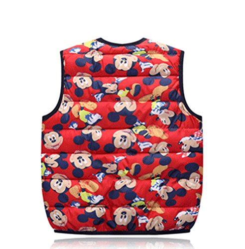 Kids Vest red Warm Children mickey Cartoon Jacket Lightweight Lemonkids;® Outfits Wadded Y4Awnv