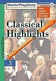 MasterPlayAlong, Classical Highlights 3, CD-ROMs : Blockflöte, 1 CD-ROM Für Windows 95/98