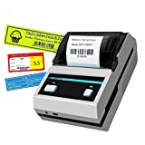 Label Printer Portable Thermal transfer Label Printer High Speed Compatible With Android and IOS for Printing Products,Retail and More Label (MHT-L5801 Label printer (black and white))