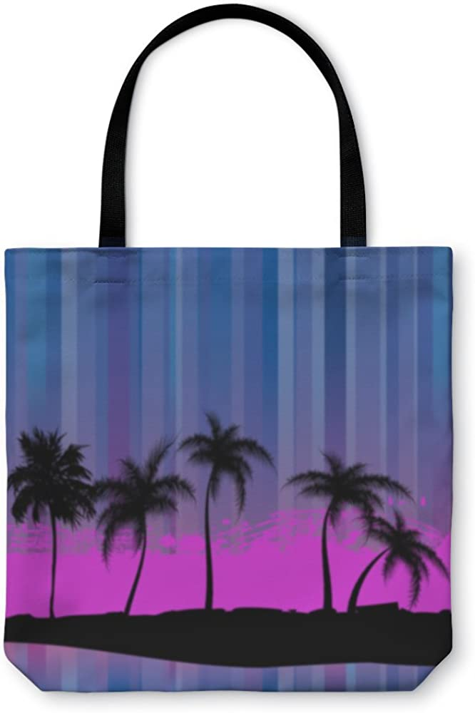 1188841GN Palm Trees An Abstract Gear New Shoulder Tote Hand Bag