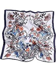 Jueshanzj Women's Imitation Silk Patterned Big Square Scarves