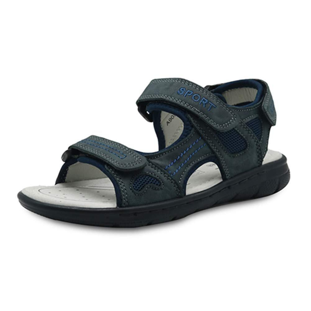 Mageed Anna Beach Sandals Kids Summer Hook /& Loop Genuine Leather Flat Orthopedic Shoes