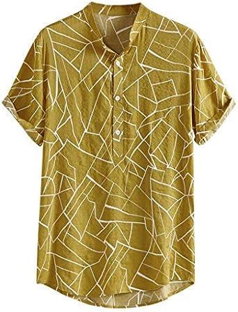 Berimaterry Funky Camisa Hawaiana Señores Manga Corta Bolsillo Delantero Impresión de Hawaii Playa Camisas Hombre Verano Polos Manga Corta Hombre Camiseta Fruta Floral Estampado Tops: Amazon.es: Ropa y accesorios