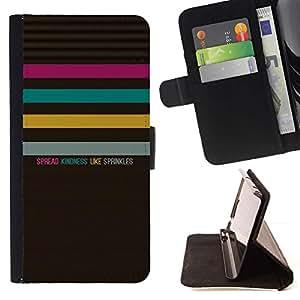 Momo Phone Case / Flip Funda de Cuero Case Cover - Citar Texto Patrón Bondad Pastel - Samsung Galaxy Core Prime