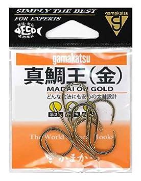 がまかつ(Gamakatsu)真鯛王フック金10号釣り針の画像